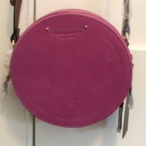 NWT Tignanello Round Purple Leather Crossbody Bag